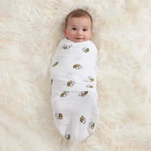 swaddle-muslin-baby-smiling-bee-icon